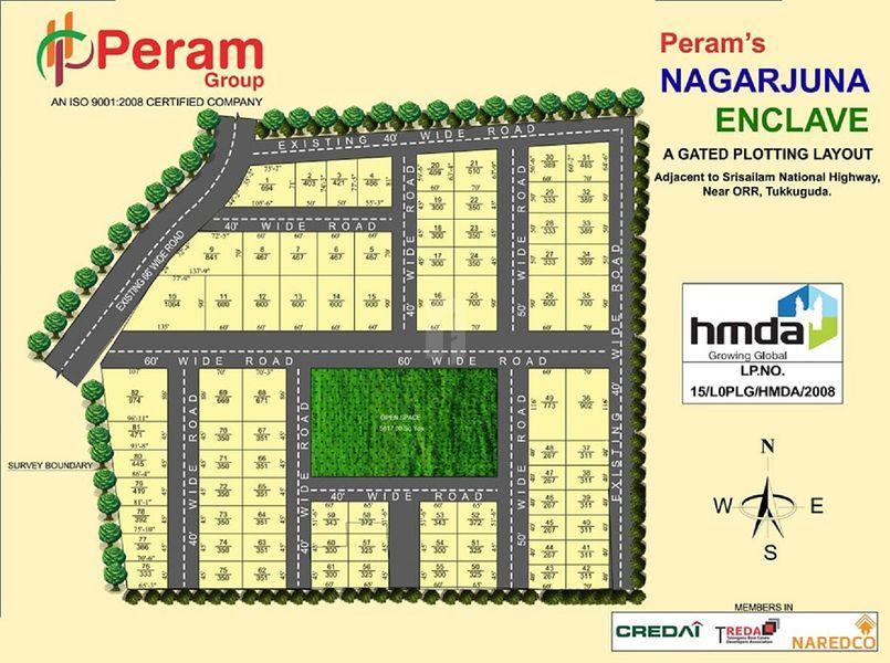 Peram Nagarjuna Enclave - Master Plans
