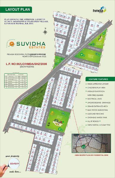 Suvidha Projects Maheshwaram - Master Plans