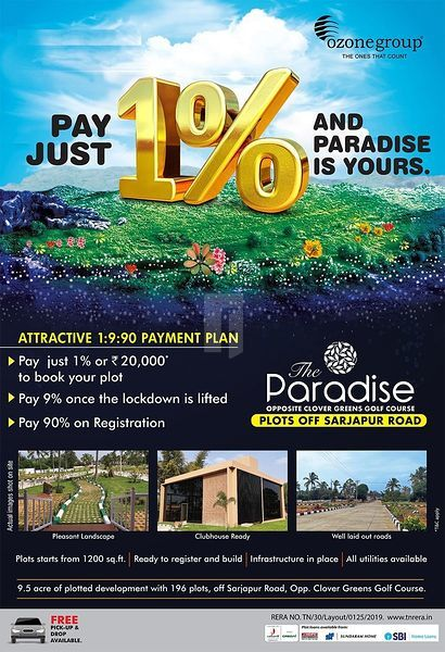 Ozone Paradise Rs 21 20 Lakhs In Sarjapur Bangalore By