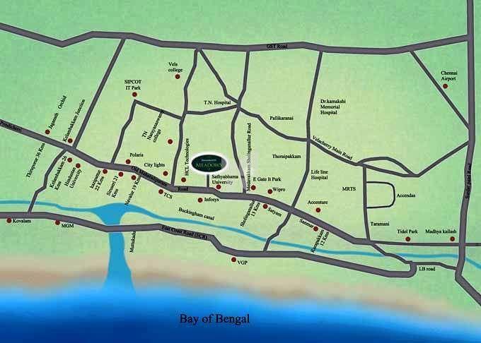Padamavathy Jagannath Meadows II - Location Map