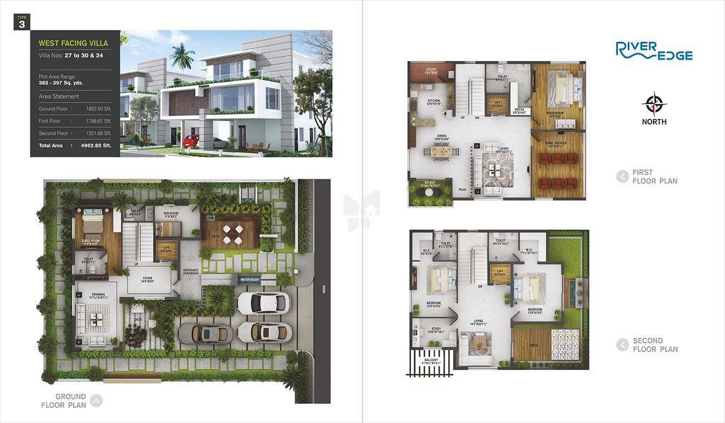 River Edge Villas in Manchirevula, Hyderabad - Price, Floor Plans ...