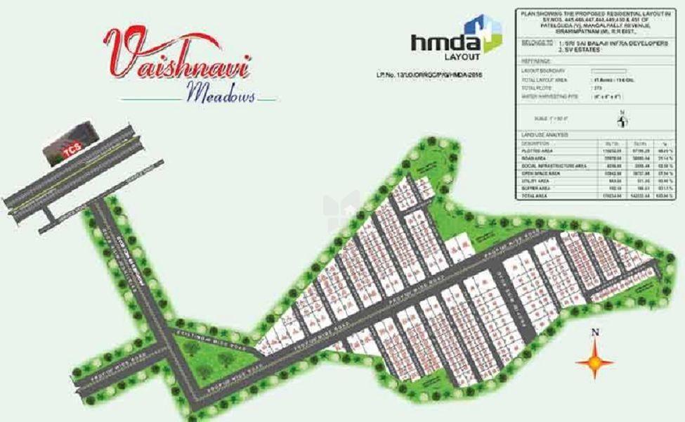 SSB Vaishnavi Meadows Plots - Master Plans