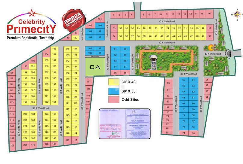 Abhyudaya Celebrity Primecity - Master Plan