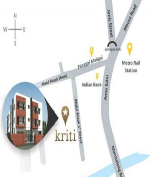 Kriti Saidapet @ Rs 58 38 Lakhs in Saidapet, Chennai by Merloam Realty -  Get TruePrice, Brochure, Amenities, Price Trends and Map on RoofandFloor |