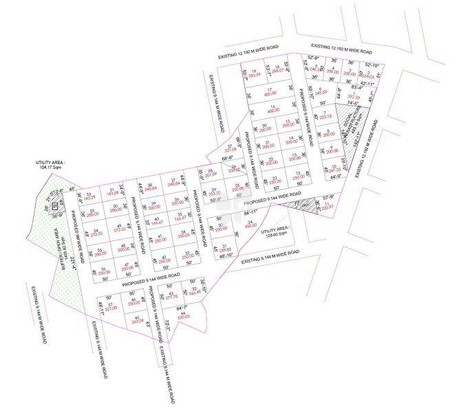 SRR Gachibowli Paradise Phase 6 - Master Plan