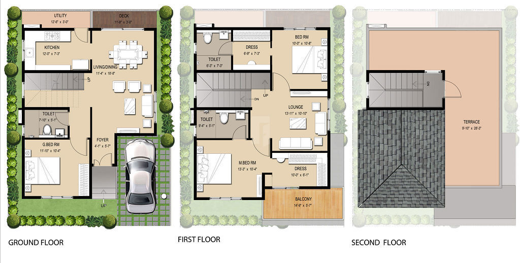 House plan south facing site - House interior