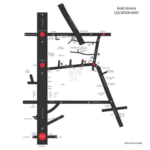 Aratt Amora Parkview - Location Map