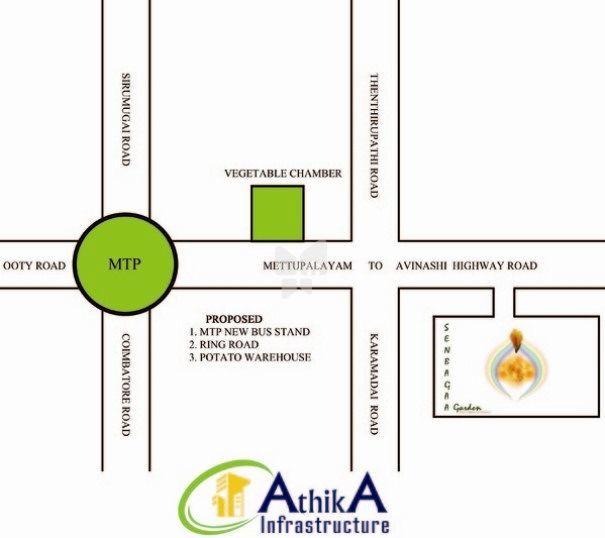 Senbagaa Garden - Location Maps