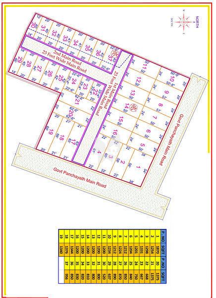 Agriyaa Saaral Nagar - Master Plan