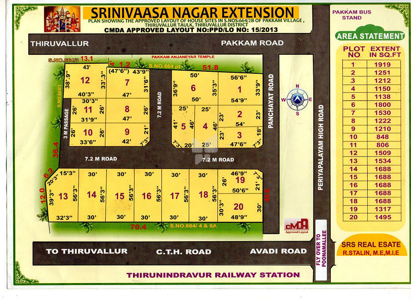 SRS Srinivaasa Nagar Extension - Master Plans