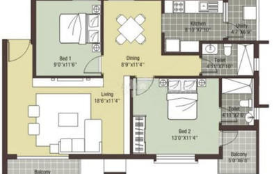 arihant-escapade-in-thoraipakkam-floor-plan-2d-onu