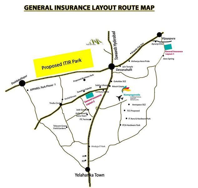 Unnathi General Insurance Layout - Location Maps