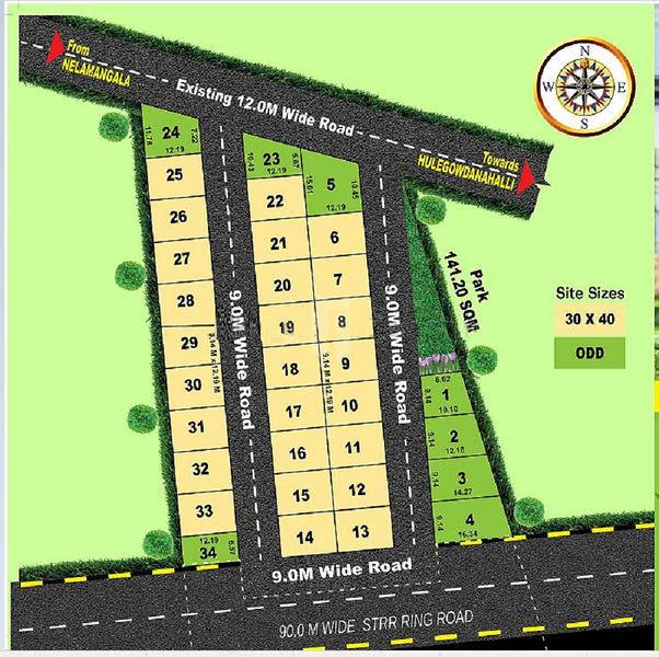 Vedha Annapoorneshwari Enclave Phase II - Master Plans