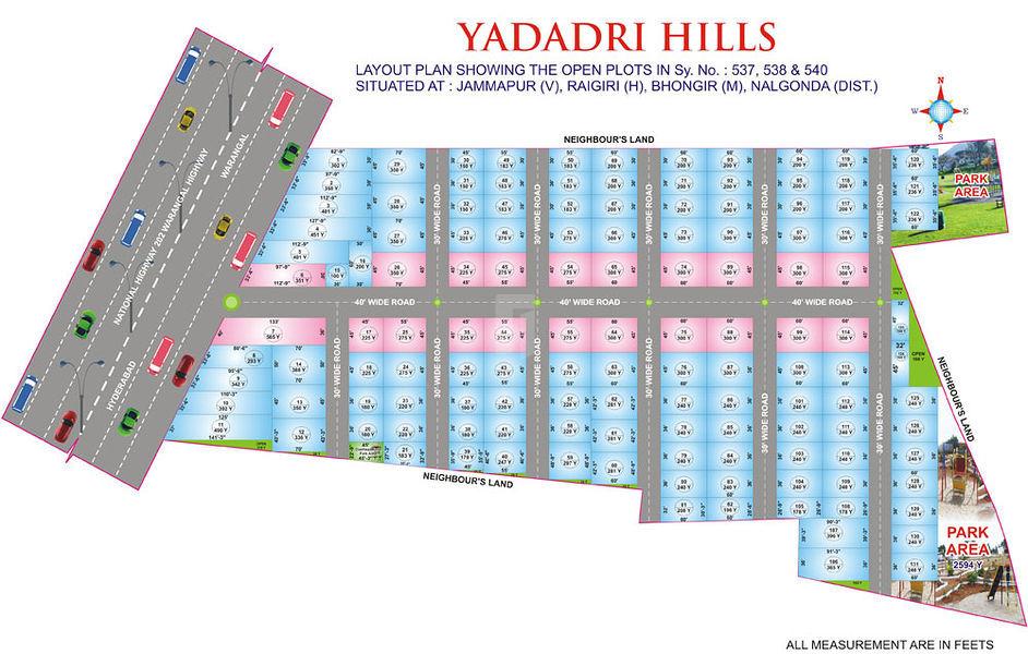 Sai Yadadri Hills - Master Plans