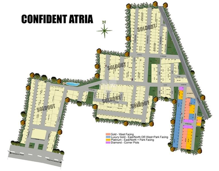 Confident Atria Phase I to VII - Master Plan