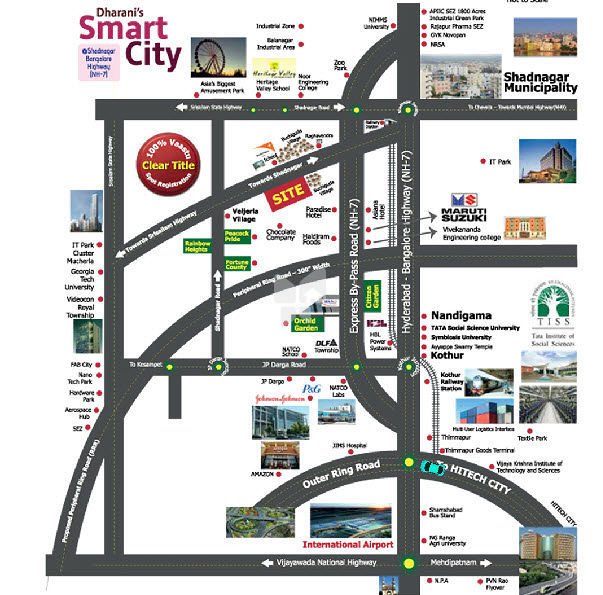 Dharani's Smart City - Location Maps