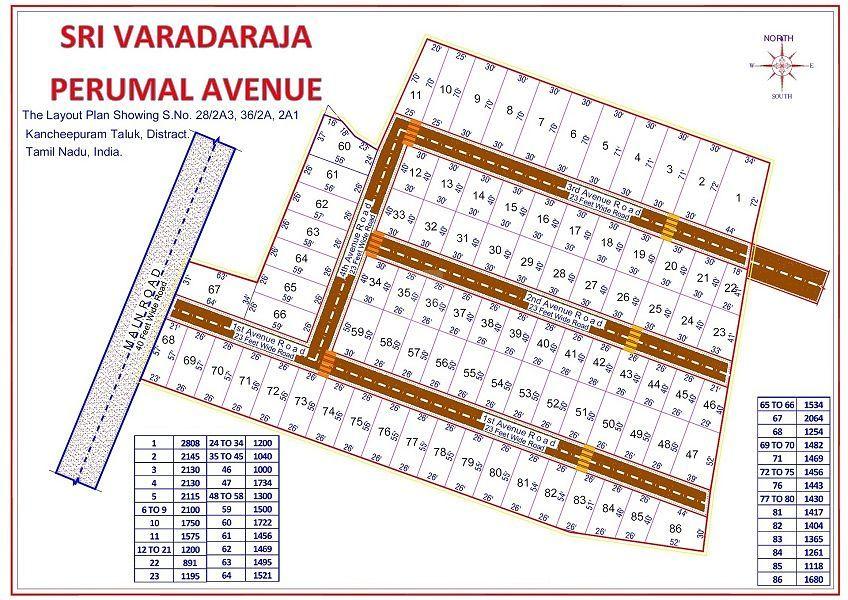 Agriyaa Sri Varadaraja Perumal Avenue - Master Plan