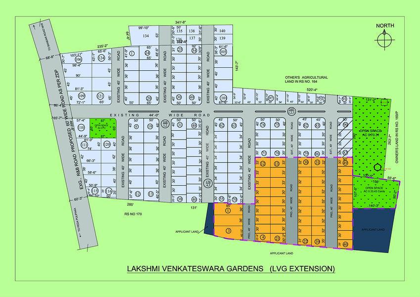 Lakshmi Venkateswara Gardens Extension - Master Plans