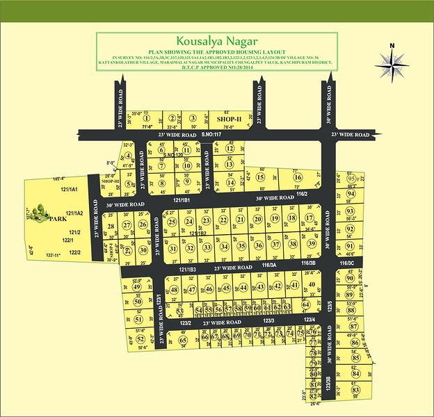 City Lands Kousalya Nagar - Master Plans
