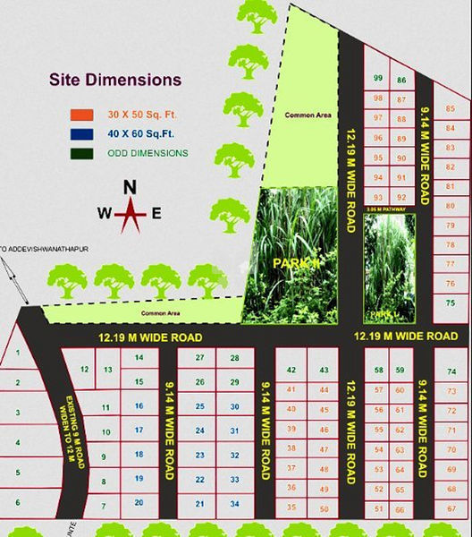 Vaibhava Aero Spring Garden - Master Plan