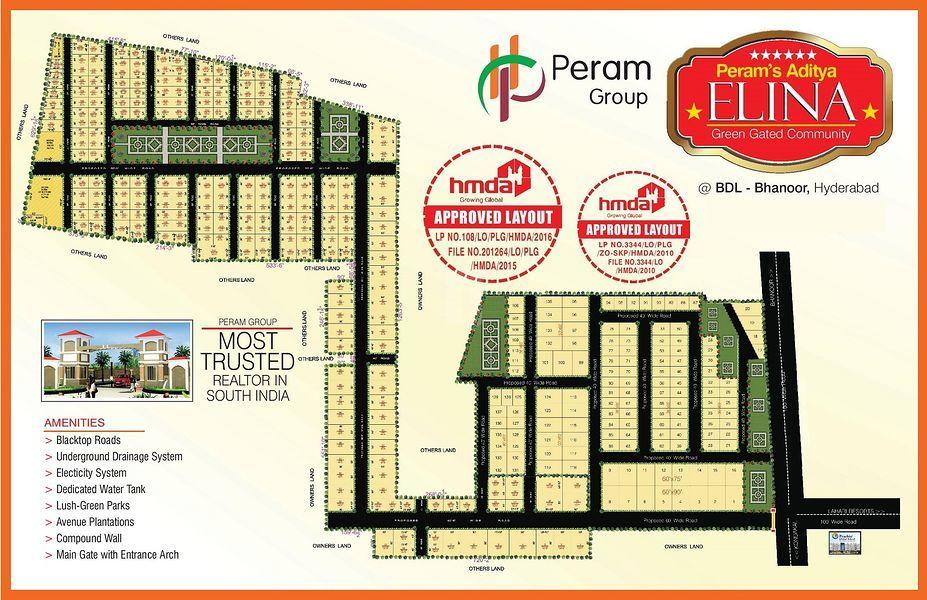 Peram's Aditya Elina - Master Plans