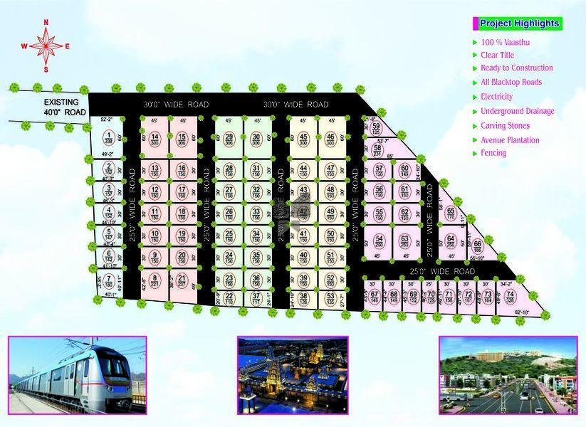 SSVPD Sreenidhi Enclave - Master Plans