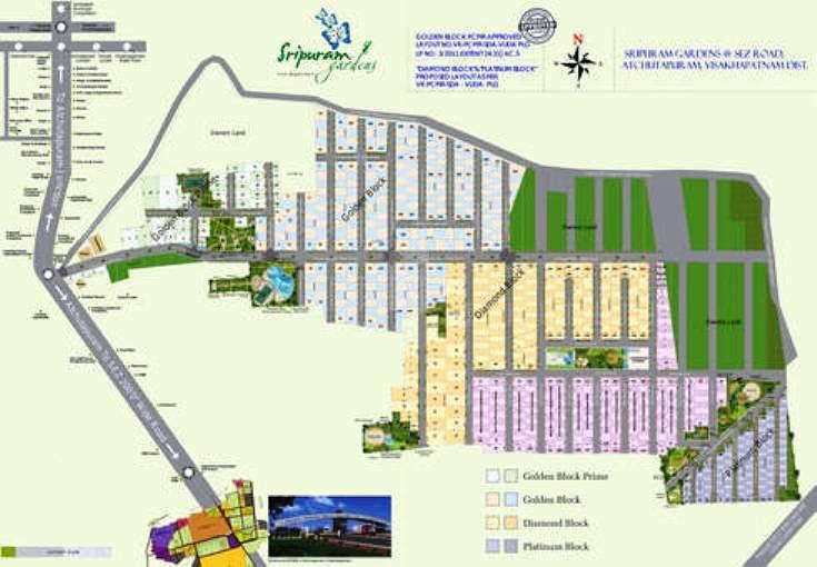 Sree Sesha Sai Sripuram Gardens Plots - Master Plans