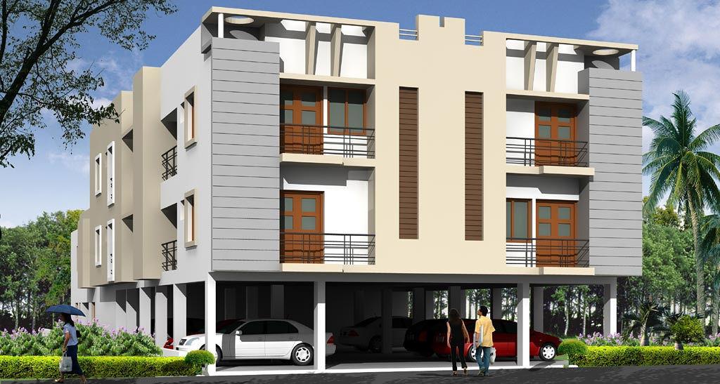 Two Floor Apartment Elevation : Lakshmi apartments sadasiva nagar in madipakkam chennai
