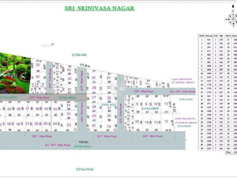 Sri Srinivasa Nagar Plot - Master Plans