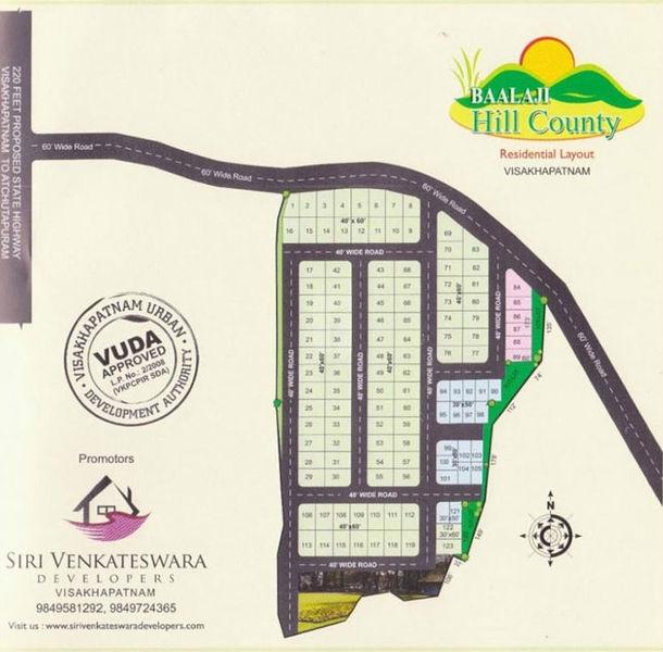 Balaji Hill County - Master Plan
