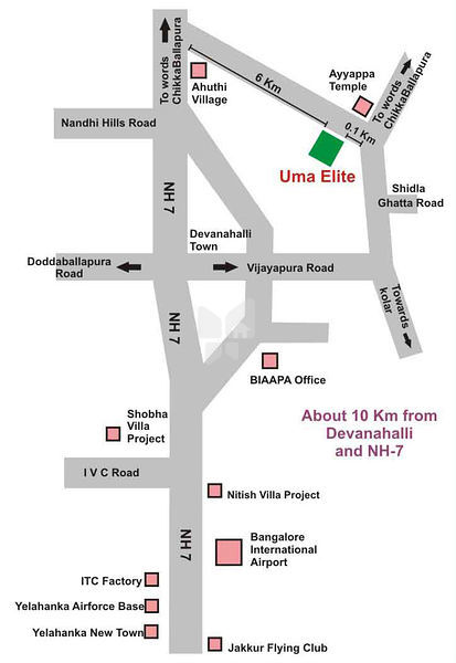 Vaishnavi Uma Elite - Location Map