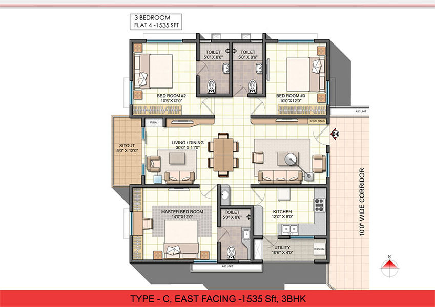 Apartment Floor Plans In Hyderabad ncc urban one in narsingi, hyderabad - price, floor plans, photos