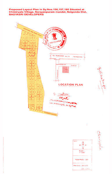 Bagyasri Bangaaru Bhoomi II A - Master Plan