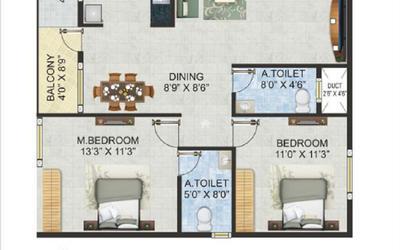 chaitrashree-royale-in-nayandahalli-floor-plan-2d-1trn