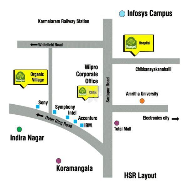 Punarjani Natural Homes Plots - Location Maps