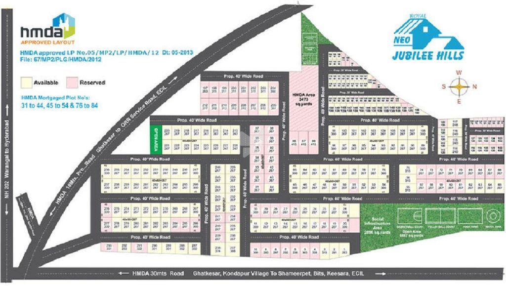 GSS Royal Neo Jubilee Hills - Master Plan