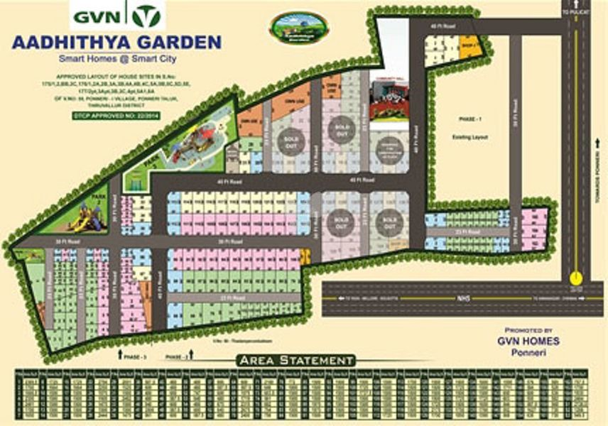 GVN Aadhithya Garden - Master Plan