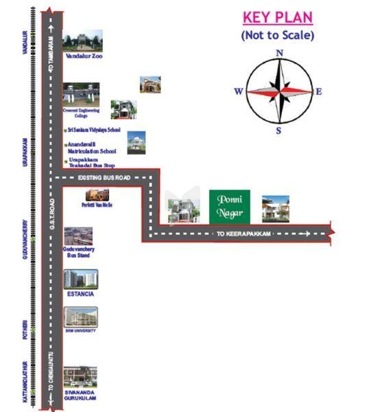 ATS Ponni Nagar - Location Map