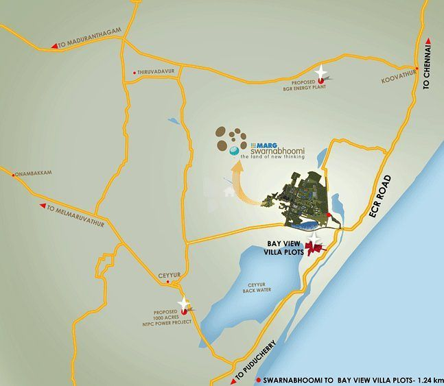 Bay View Villa Plot - Location Map