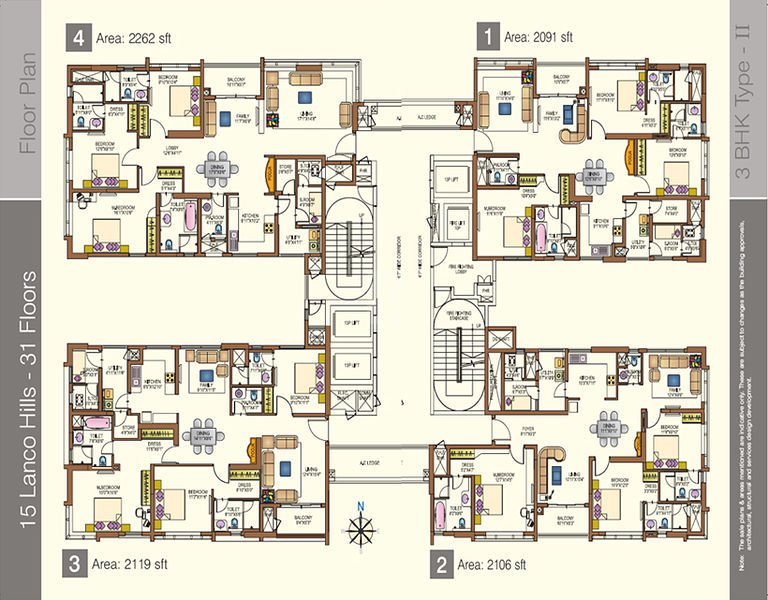 Lanco hills in manikonda hyderabad price floor plans for Apartment plans hyderabad
