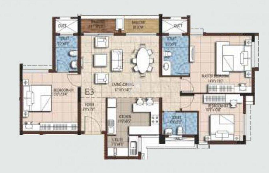 3 5 bhk apartments in akshaya tango compact homes thoraipakkam chennai by roofandfloor - Compact homes chennai ...