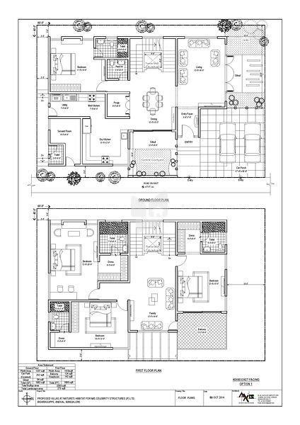 60x40 house plan bangalore home design and style for 60x40 floor plans