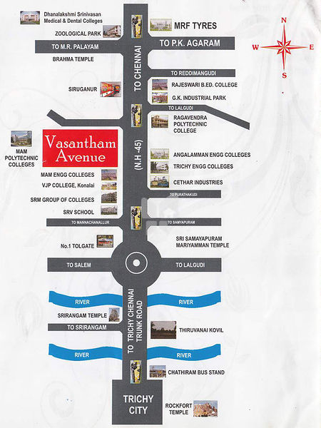 Arun Promoters Vasantham Avenue - Location Maps