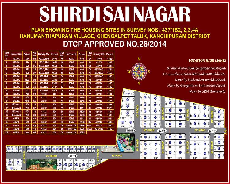 Vamanan Estates Shirdi Sai Nagar - Master Plan