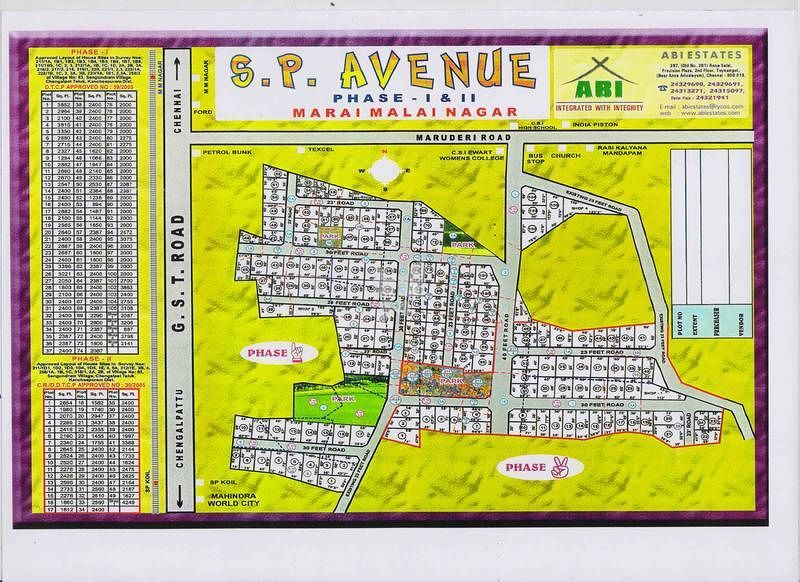 ABI SP Avenue Phase I - Master Plans