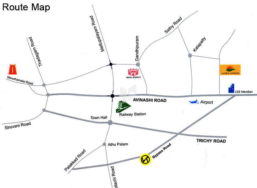 Globus Reliance Gardens - Location Maps