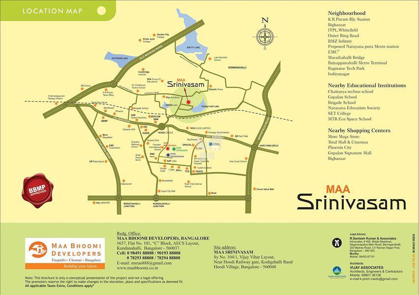 Maa Srinivasam @ Rs 38 15 Lakhs in Kodigehalli, Bangalore by Maa Bhoomi  Developers - Get TruePrice, Brochure, Amenities, Price Trends and Map on