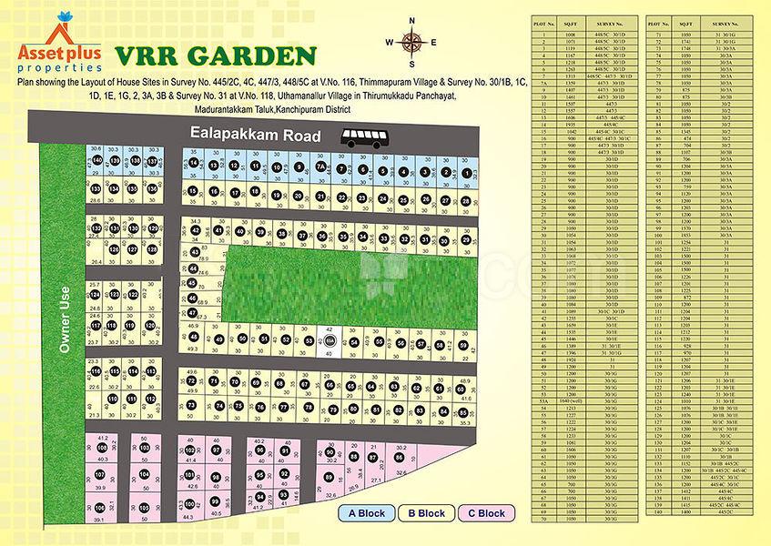 Asset Plus VRR Garden - Master Plan