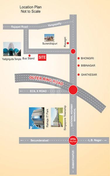 Shobhodayam Enclave - Location Map