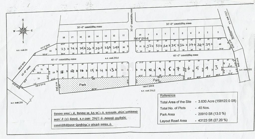 Greens Sri Krishana Nagar DTCP Phase I - Master Plans